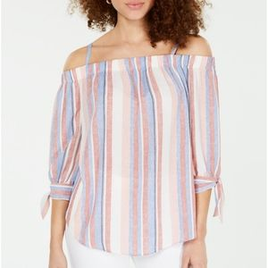 BCX Stripped Off The Shoulder Top